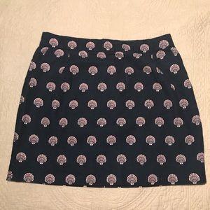 Navy & Pink Seashell JCrew skirt (6)